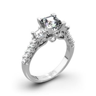 Verragio Renaissance 904P5 3-Stone Diamond Engagement Ring for Princess