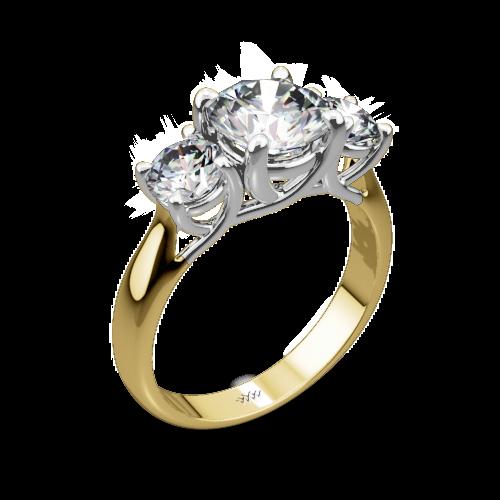 3 Stone Trellis Diamond Engagement Ring 1026