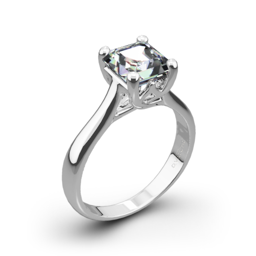 Vatche 1019 Royal Crown Solitaire Engagement Ring for Princess