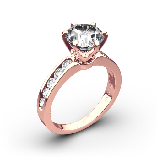 Vatche 1020 6-Prong Channel Diamond Engagement Ring