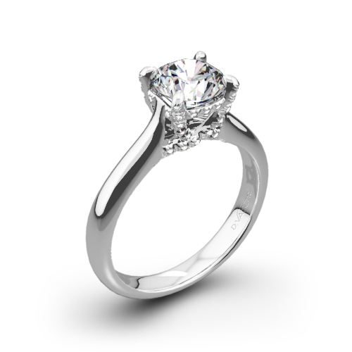 Vatche 1025 X-Prong Surprise Solitaire Engagement Ring