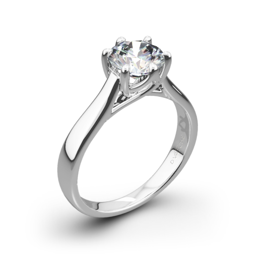 vatche 119 royal crown solitaire engagement ring - Crown Wedding Rings