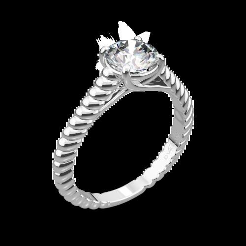 69be332ce0332 18k White Gold Vatche 1500 Splendor Solitaire Engagement Ring