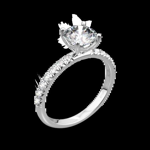Vatche 1533 Charis Pave Diamond Engagement Ring