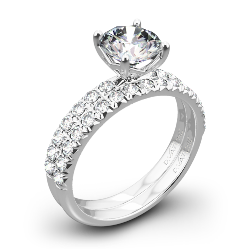 Vatche 1533 Charis Pave Diamond Wedding Set