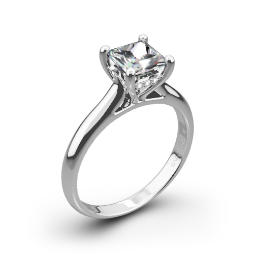 Caroline Solitaire Engagement Ring For Princess Cut Diamonds By