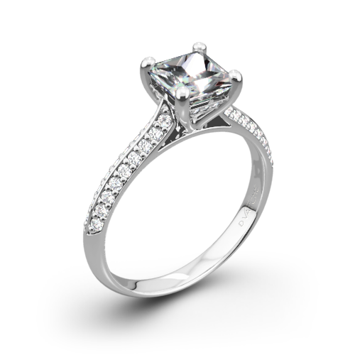 Vatche 190 Caroline Pave Diamond Engagement Ring for Princess