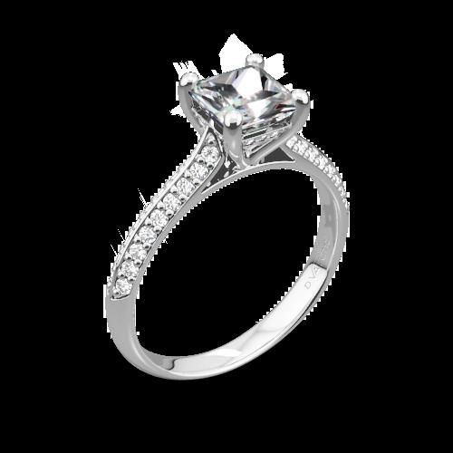 Vatche 190 Caroline Pave Diamond Engagement Ring for Princess