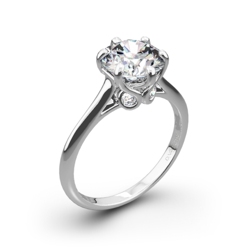 Vatche 191 Swan Solitaire Engagement Ring