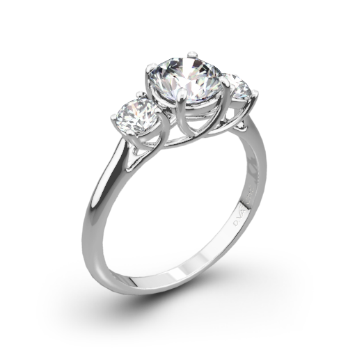 vatche 319 x prong three stone engagement ring - Three Stone Wedding Rings