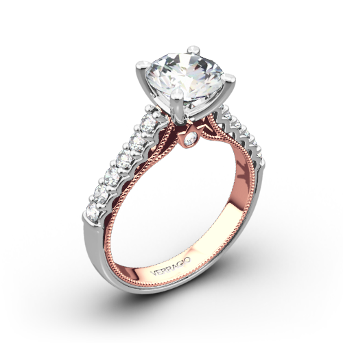 Verragio 901R7 2T Two Tone Diamond Engagement Ring