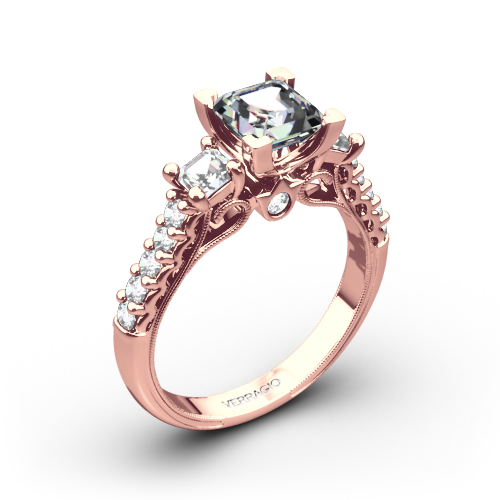 Verragio Classic 904P5 3-Stone Diamond Engagement Ring for Princess