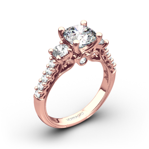 Verragio Classic 905R6 3-Stone Diamond Engagement Ring