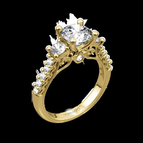 Verragio Classic 905R6 3-Stone Diamond Engagement Ring