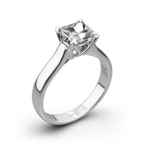W-Prong Solitaire Engagement Ring for Princess