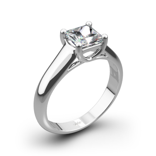 X-Prong Solitaire Engagement Ring for Princess