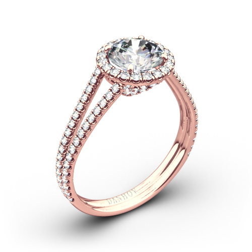 Danhov LE117 Per Lei Double Shank Diamond Engagement Ring