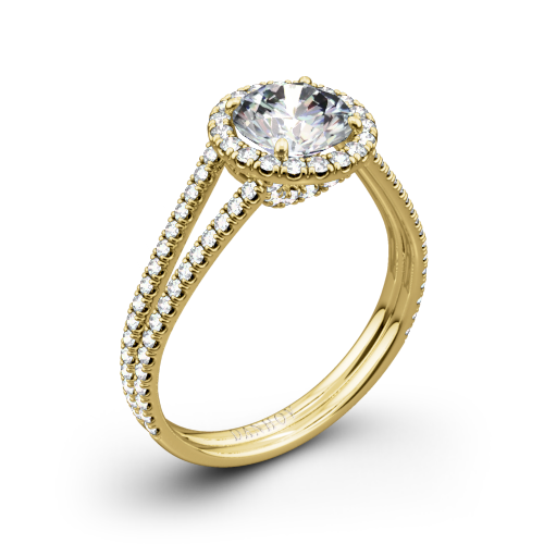 Danhov LE117 Per Lei Double Shank Diamond Engagement Ring