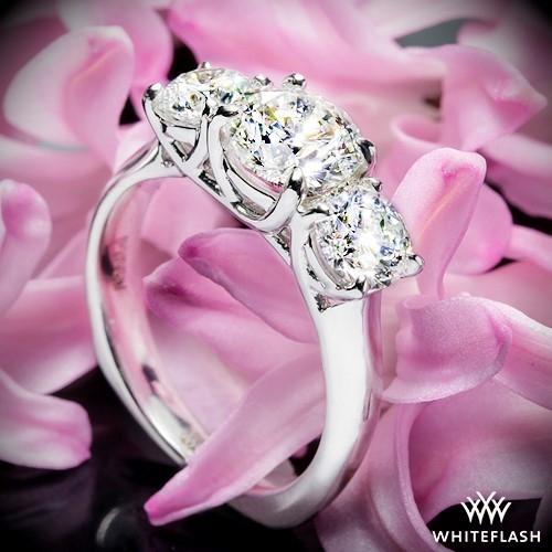 Trellis 3 Stone Engagement Ring