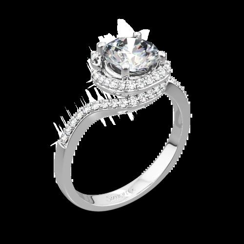 Simon G. MR2533 Passion Diamond Halo Engagement Ring