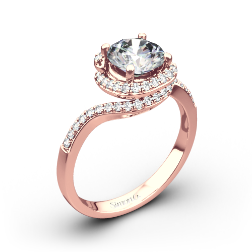 Simon G. MR2533 Passion Diamond Halo Engagement Ring