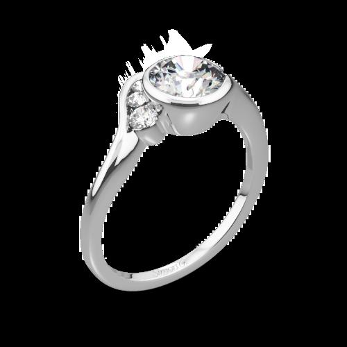 Simon G. MR2549 Fabled Bezel Solitaire Engagement Ring