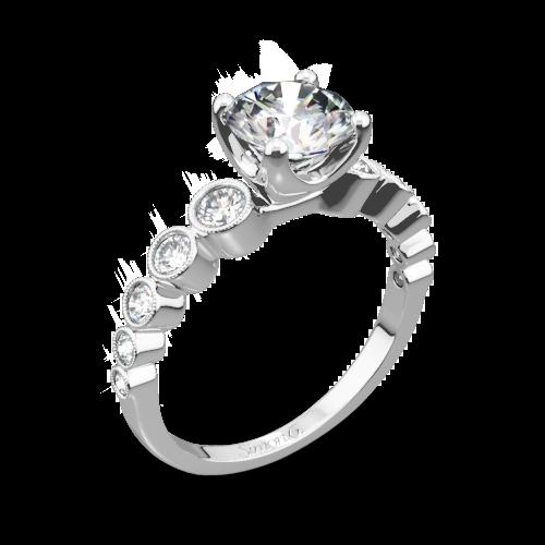 Simon G. MR2692 Caviar Diamond Engagement Ring