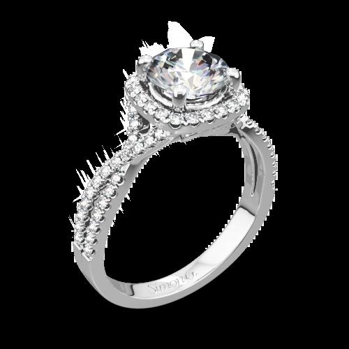 Simon G. NR468 Passion Halo Diamond Engagement Ring