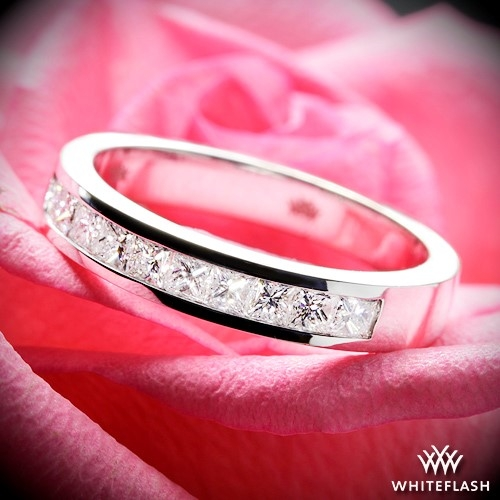 Princess Channel Set Diamond Wedding Ring