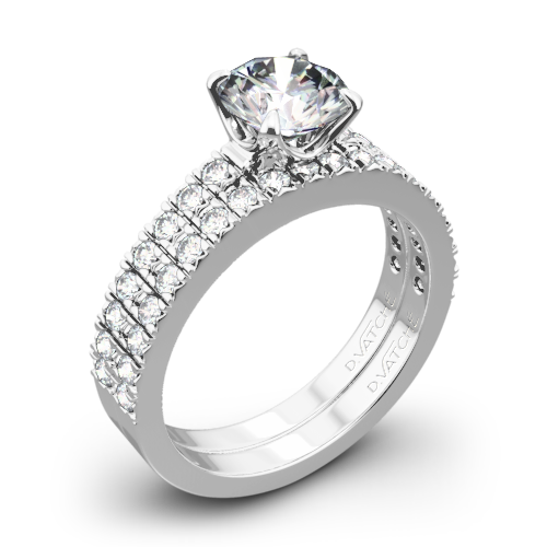 Vatche 1003 5th Ave Pave Diamond Wedding Set