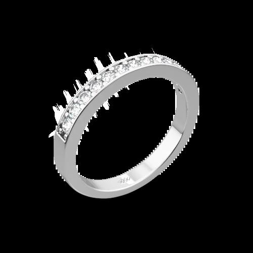 Bead-Set Diamond Wedding Ring