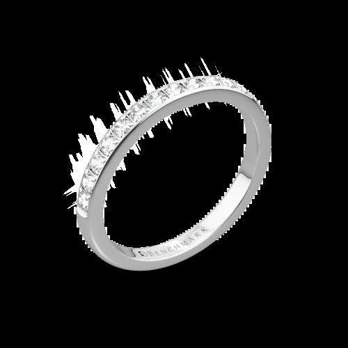 Benchmark Large Pave Diamond Wedding Ring