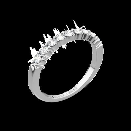 Benchmark Shared-Prong Diamond Wedding Ring