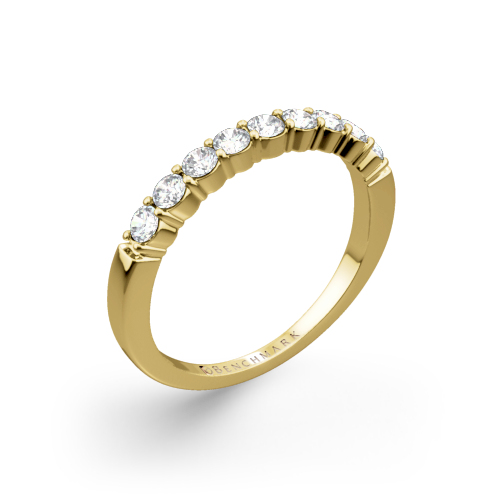 Benchmark Shared-Prong Diamond Wedding Ring