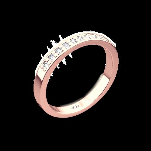 Flush-Fit Diamond Wedding Ring