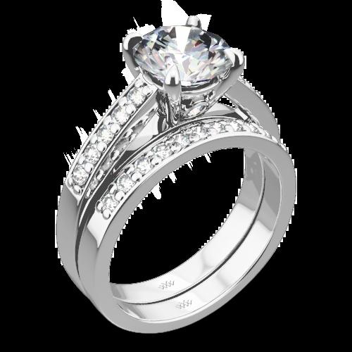 Flush Fit Diamond Wedding Set