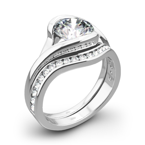 Iris Diamond Wedding Set