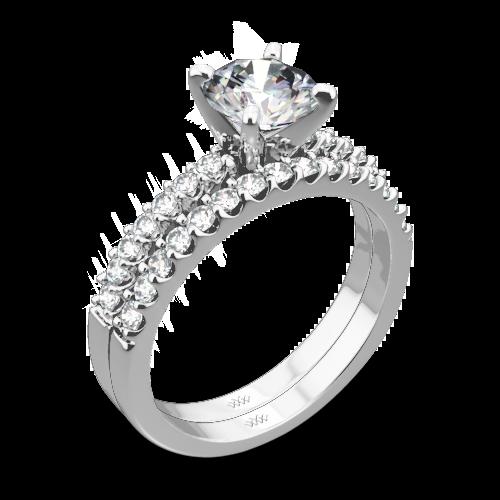Petite Diamond Wedding Set