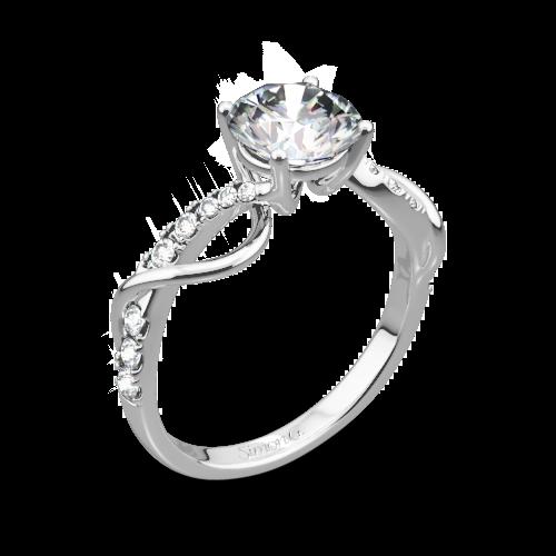 Simon G. MR2526 Fabled Crisscross Diamond Engagement Ring