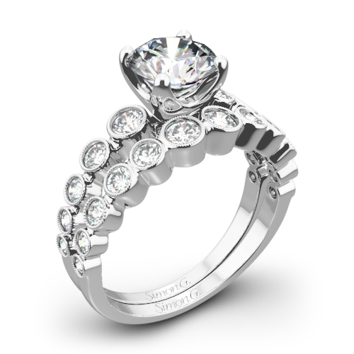 Simon G. MR2692 Caviar Diamond Wedding Set