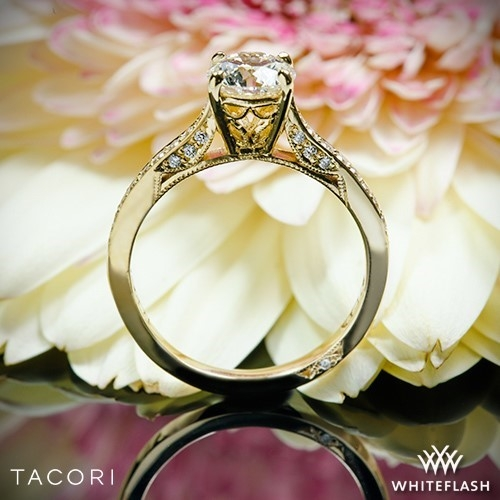 Tacori 2638RDP Dantela Crescent Motif Pave Diamond Engagement Ring