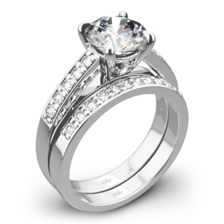 Flush-Fit Diamond Wedding Set