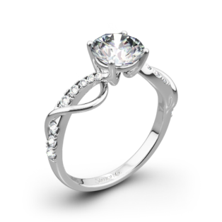 Simon G. MR2526 Fabled Crisscross Diamond Engagement Ring