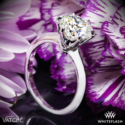 Vatche U-113 6 Prong Solitaire Engagement Ring