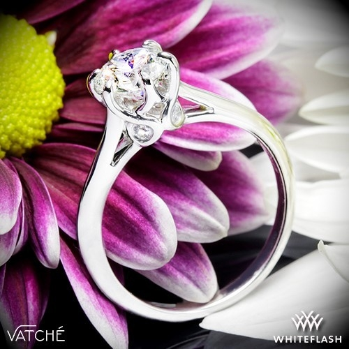 Vatche 191 Swan Engagement Ring