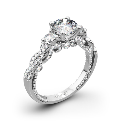 verragio ins 7074r braided three stone engagement ring - Stone Wedding Rings
