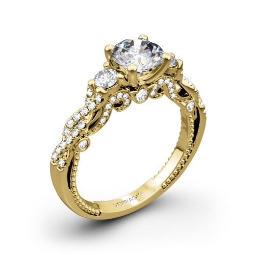 Verragio INS-7074R Braided Three Stone Engagement Ring