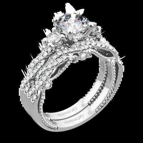 Verragio INS-7074R Braided Three Stone Wedding Set