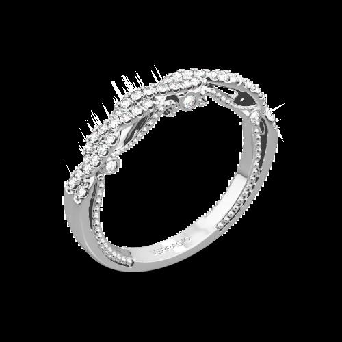 Verragio INS-7074W Beaded Twist Diamond Wedding Ring