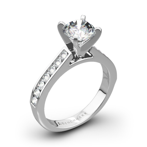 Benchmark HCC2 Channel-Set Diamond Engagement Ring
